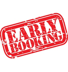 Early booking stamp vector
