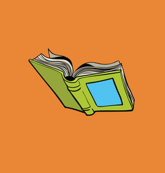 Open book reading library and a bookstore vector