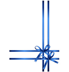 Beautiful gift bows isolated on white background vector