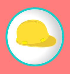 construction helmet icon vector image