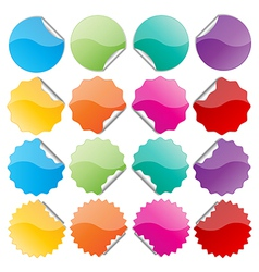 Colorful bended seals vector