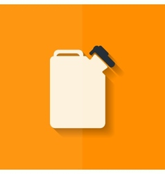 Fuel jerrycan icon flat design vector