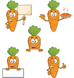 Cartoon carrots vector