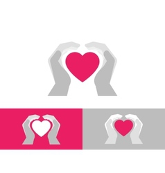 Heart care vector