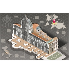 Isometric infographic of saint peter in rome vector