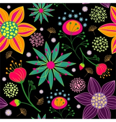 Spring summer colorful flower seamless pattern vector