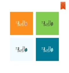 Hello - stylized text vector