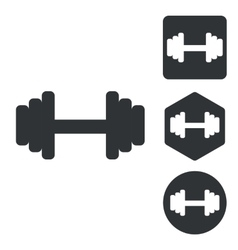 Barbell icon set monochrome vector