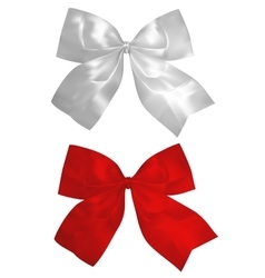 Red and silver bows vector