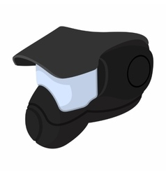 Paintball mask with goggles cartoon vector