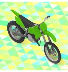 Motorcycle isometric cross motorbike vector