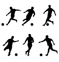 Soccer football players silhouettes vector