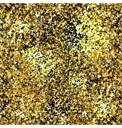 Gold sparkles texture with shine and glossy vector image