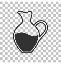 Amphora sign dark gray icon on transparent vector