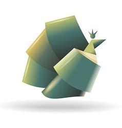 Abstract bird symbol vector image vector image