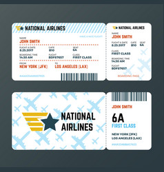 airplane flight boarding pass ticket isolated vector image
