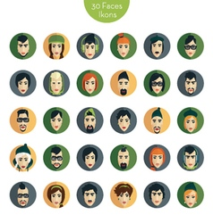 Avatar ikons faces vector