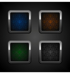 chrome colors buttons vector image vector image