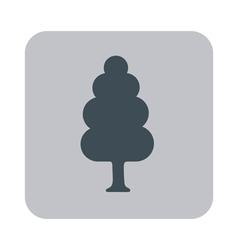 Deciduous tree icon vector