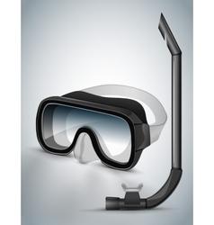 Diving goggles diving mask black vector