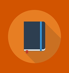 Education flat icon notebook vector