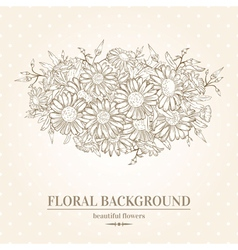 Elegant card with chamomile flowers vector