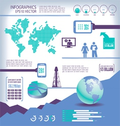 Elements for infographics vector image