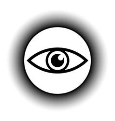 Eye button vector image vector image