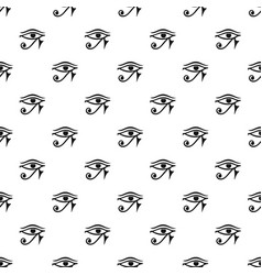 Eye of horus egypt deity pattern vector