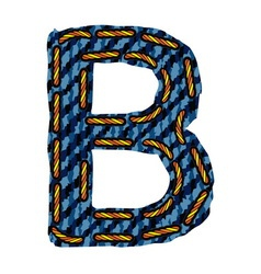 Farmerke tekstura slovo B vector image