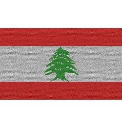 Flags Lebanon on denim texture vector image