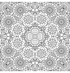 Full frame kaleidoscope background of patterns vector image vector image