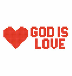 God is love vector