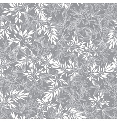 Grey blossom branches leaves summer vector