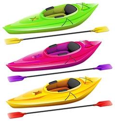 Kayaks vector