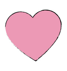 love heart romantic valentine symbol vector image vector image