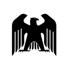 Majestic black eagle vector image