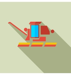Modern flat design concept icon combine harvester vector