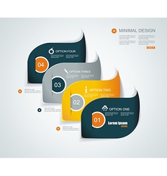 Modern infographics template style Can be used for vector image vector image