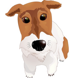 My fox terrier dog vector