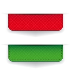 Red and green ribbon set vector image