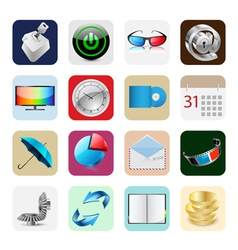 smart phone icons vector image vector image