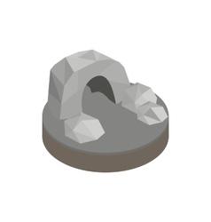 Underground cave isometric 3d icon vector