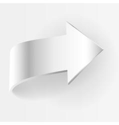 White arrow vector image vector image