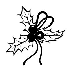 Holly bow vector