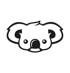 Koala bear sign logo vector