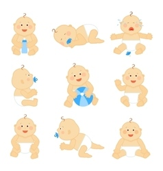 Cute baby in diaper vector