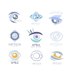 Kids optics clinic and ophthalmology cabinet set vector