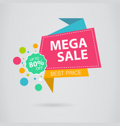 sale banner design colored banner for promotion vector image