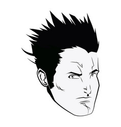 Face super hero comic angry expression character vector